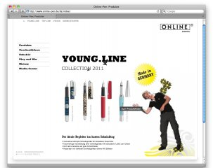 Youngline Webseite mit Video Avatar